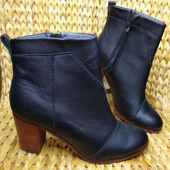 Toms Shoes | Leila Black Ankle Boots 9